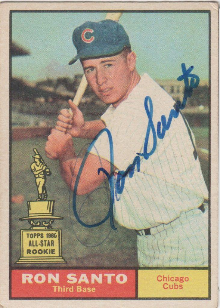Autographed 1961 Topps rookie card