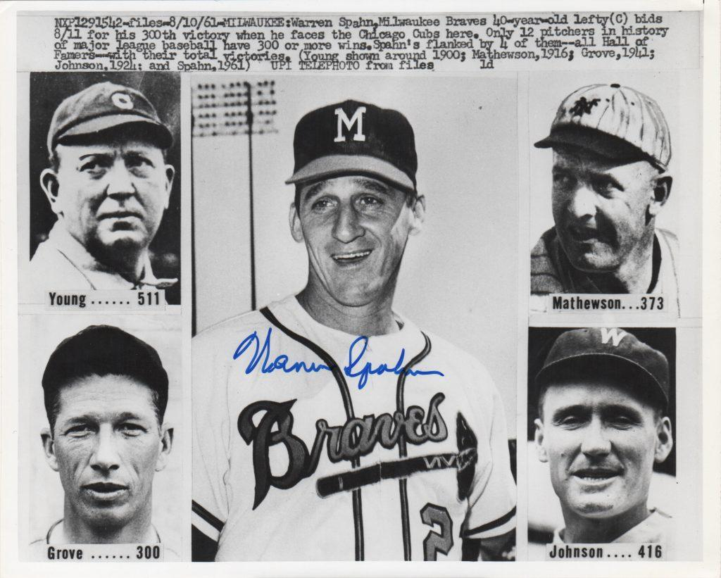Warren Spahn joins the 300-win club