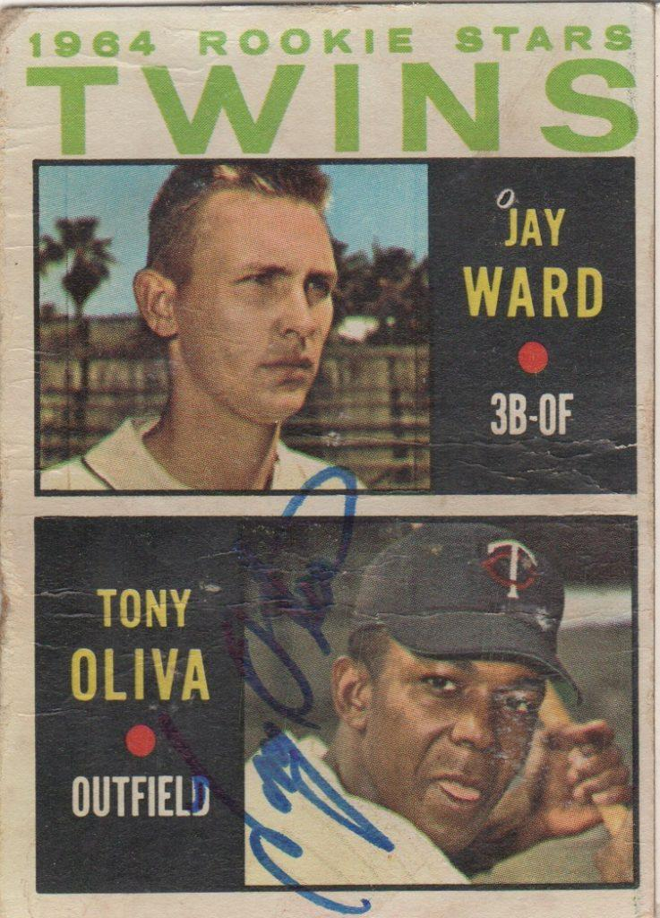 1964 Twins Rookie Stars card signed by Tony Oliva