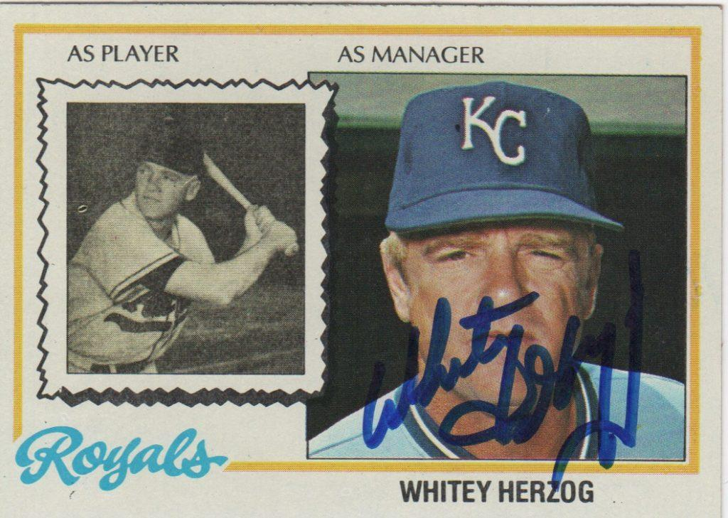 Whitey Herzog guided the Royals for five seasons