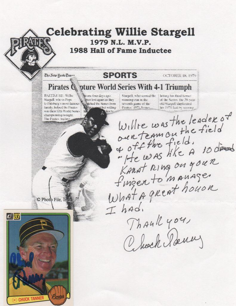 Chuck Tanner weighs in on managing Willie Stargell