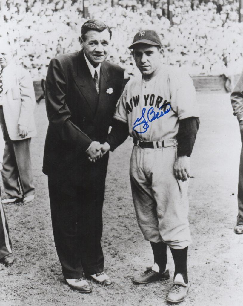 Yogi Berra helped continue the Yankee dynasty after the Sultan of Swat retired
