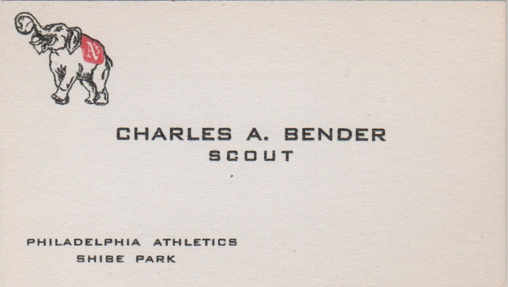 After retiring as a player, Chief Bender became a scout for the Athletics