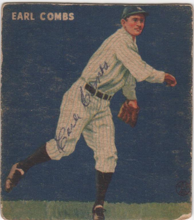 Earle Combs was an explosive player during his 12-year career in the Major Leagues