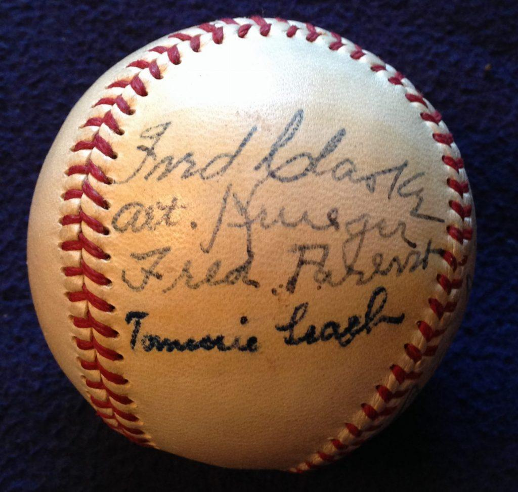 Other autographed panel of the Golden Jubilee ball with HoFer Fred Clarke