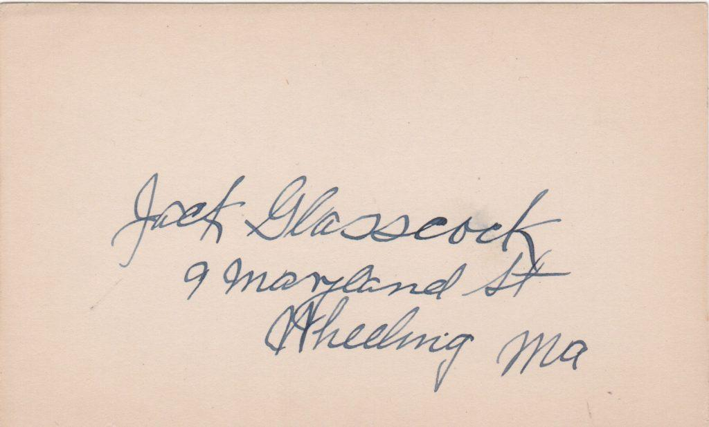 Uncommon signature of barehanded shortstop Jack Glasscock