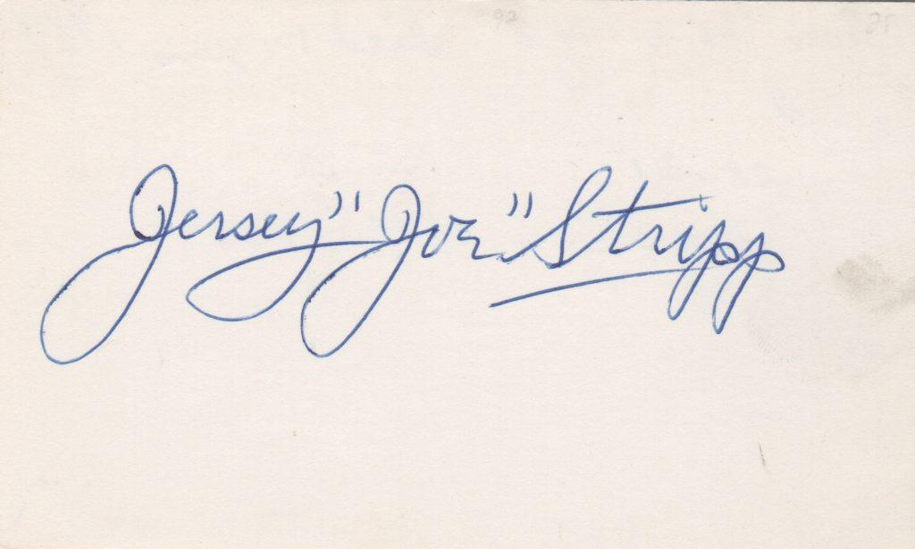 Autograph of last man to hit against a legal spitballer