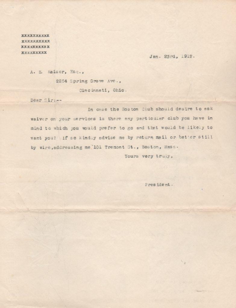 John Montgomery Ward's response to Al Kaiser