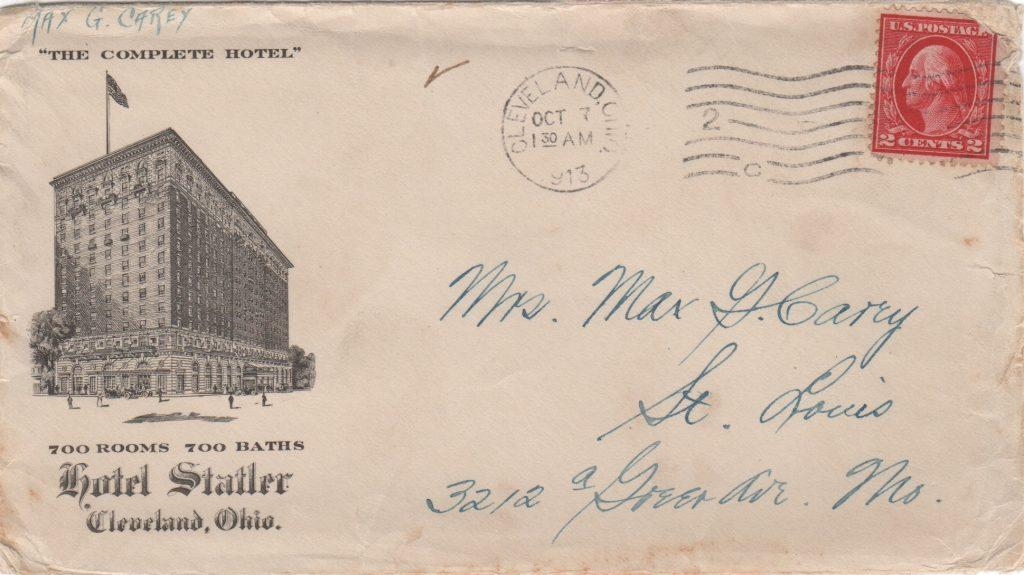 Envelope addressed to