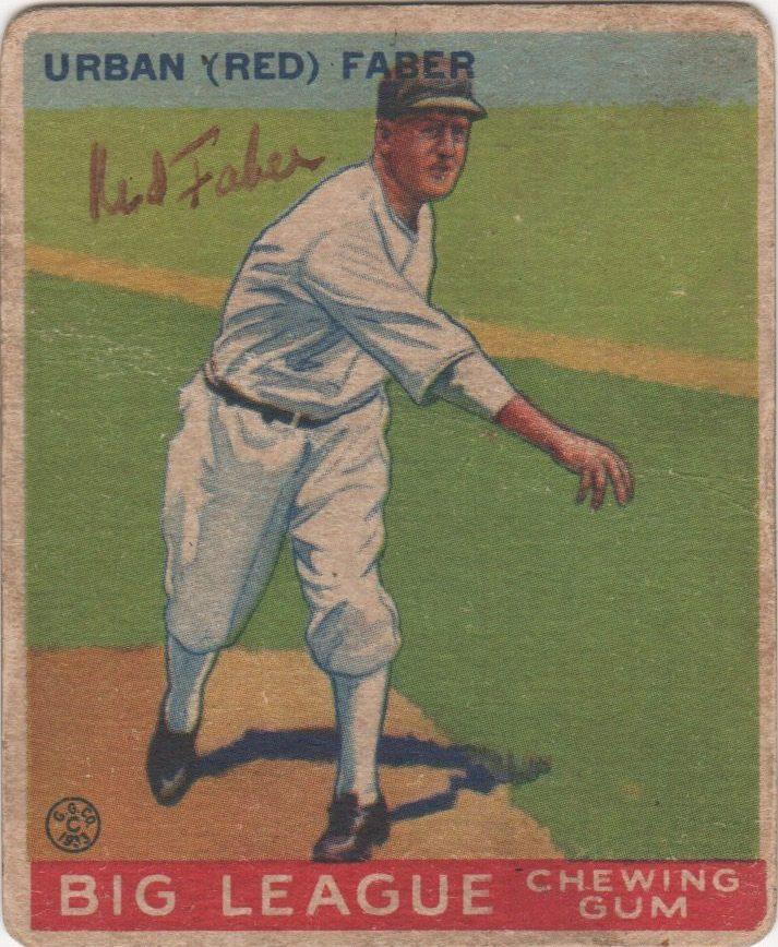 Red Faber autographed 1933 Goudey