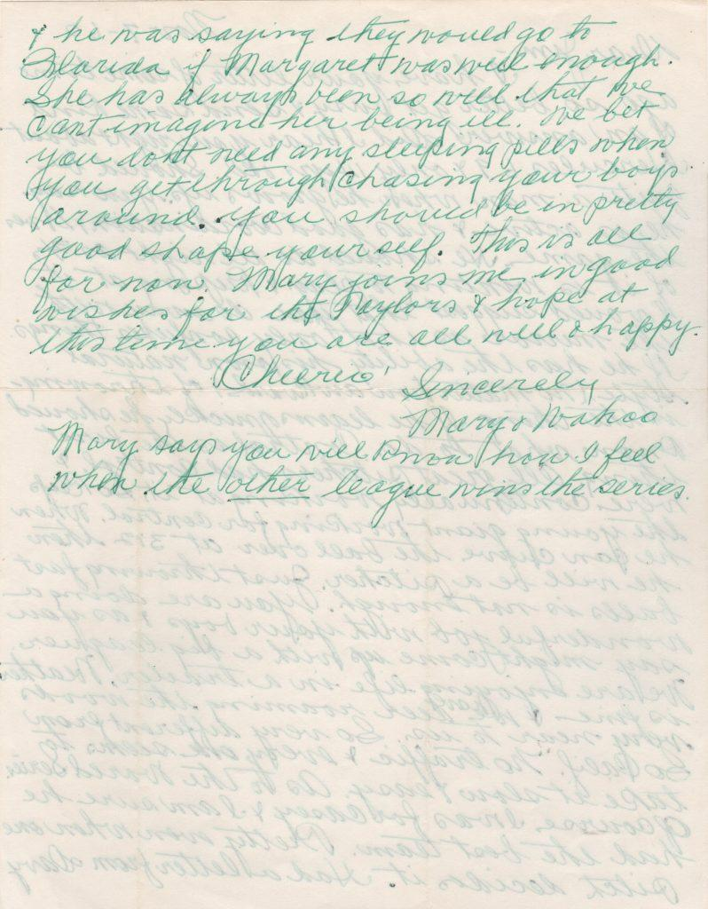 Page two of two-page letter written by Crawford