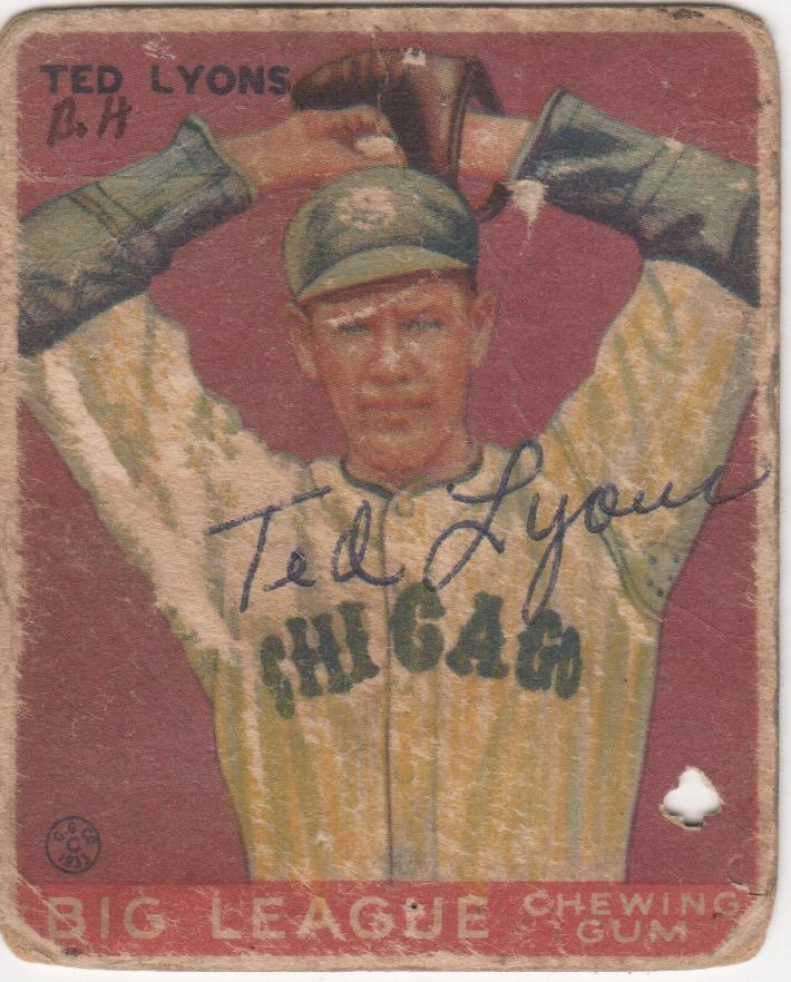 Ted Lyons pitched for the White Sox from 1923-1946 and won 260 games