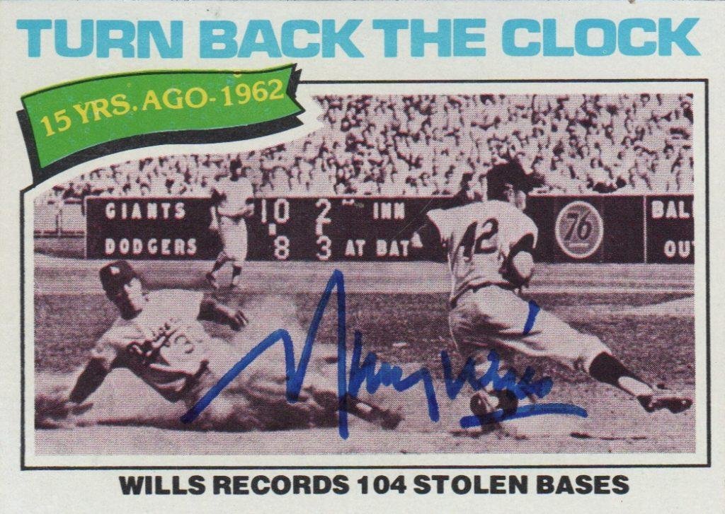 Maury Wills set the MLB single-season stolen base record in 1962
