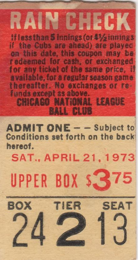 Baseball oddity: Ticket from April in which Parker got a base hit two months before his MLB debut