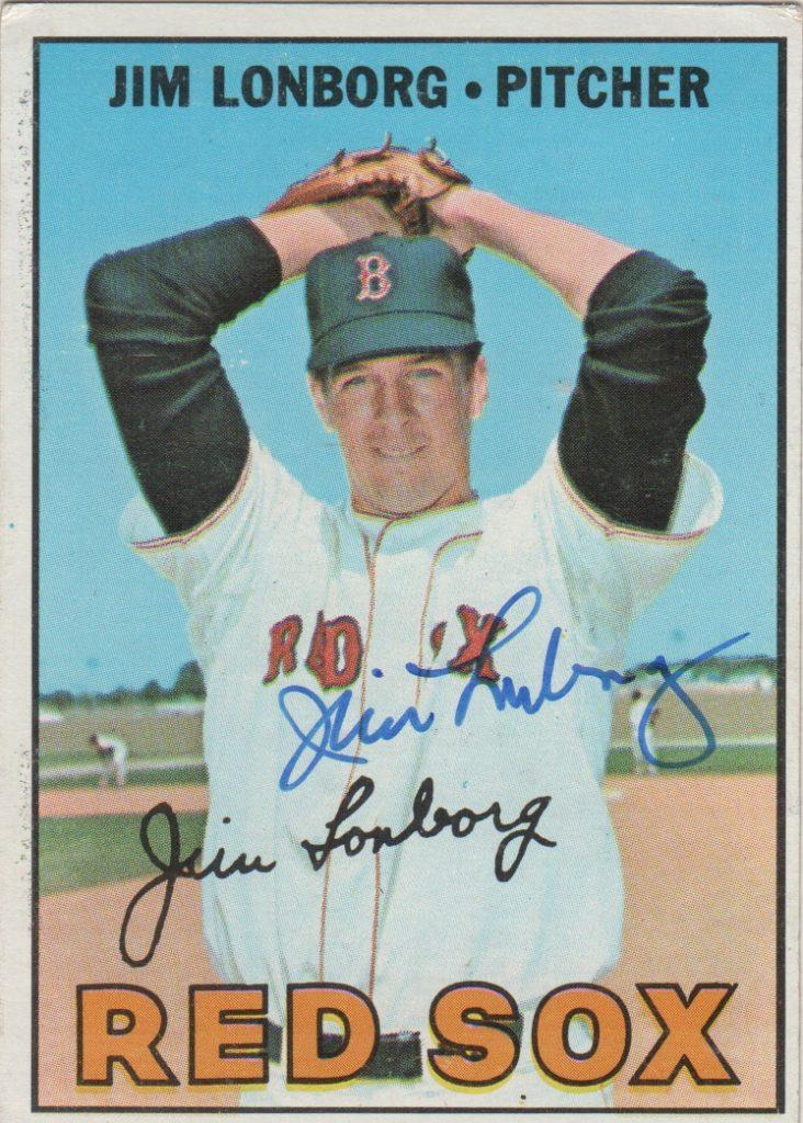 Jim Lonborg signed card from Cy Young season