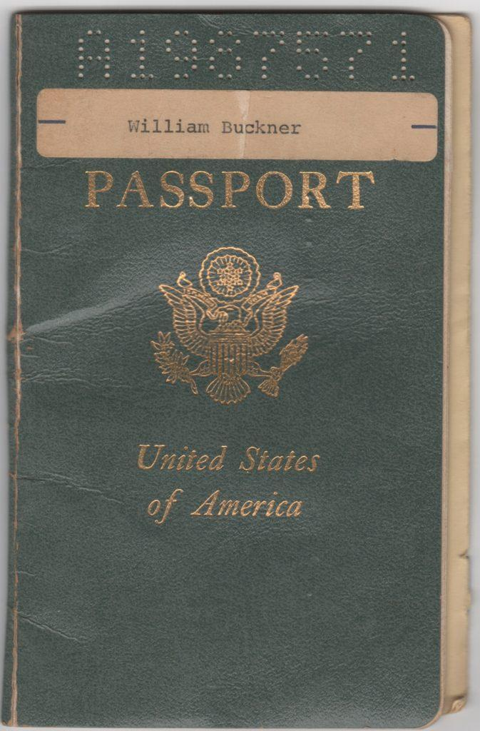 USA Passport issued to 19-year old Bill Buckner