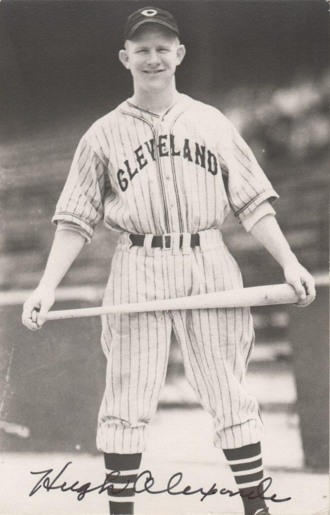 Signed photo of Hugh Alexander with the Indians
