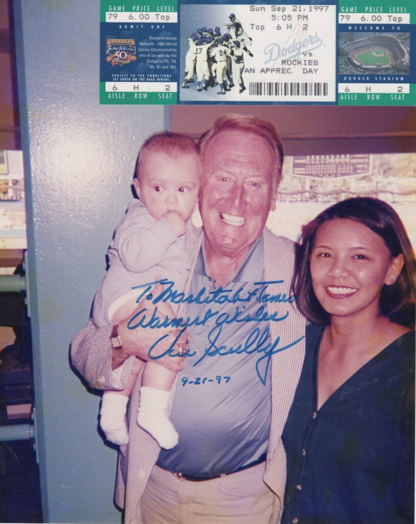 Jimmy Smiley's first MLB game included time with the greatest announcer of all time, Vin Scully
