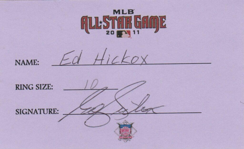 Ed Hickox called balls and strikes for both Alex Rodriguez' 1st and 3,000th MLB hits