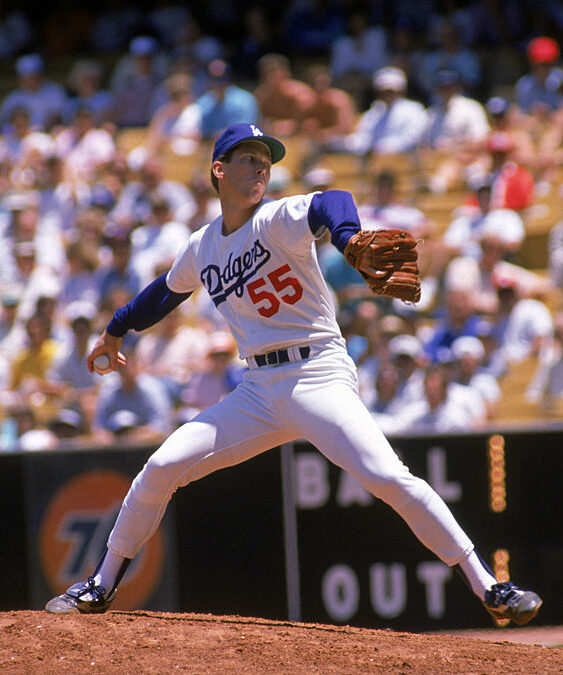 Orel Hershiser of the Los Angeles Dodgers