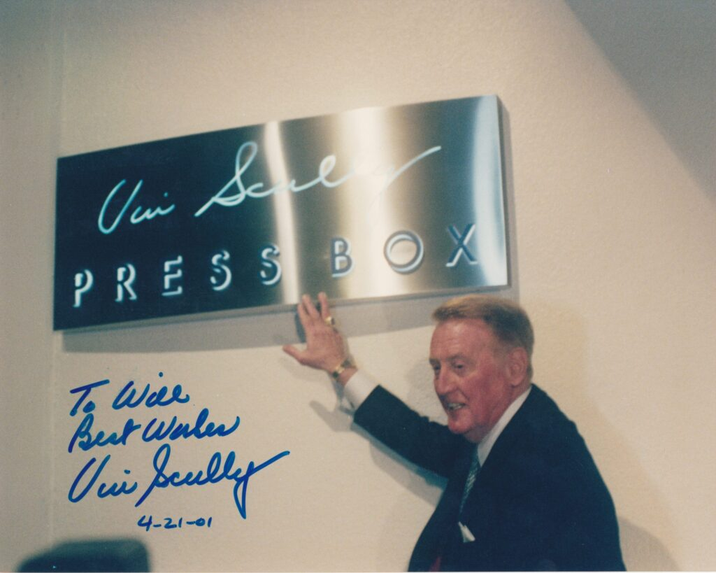 The Dodger Stadium press box was named in honor of Vin Scully in 2001