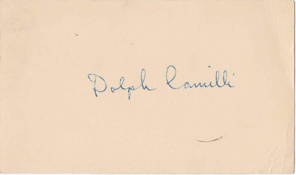 Dolph Camilli was one of the NL's most dangerous hitters of the mid-'30s through the early-'40s
